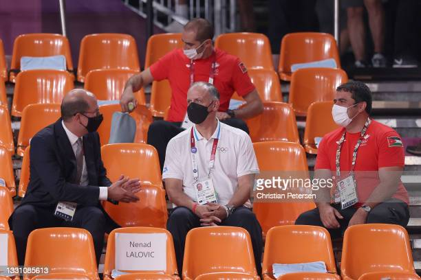 Andreas Zagklis, Secretary General of International Basketball Federation, HRM Prince Feisal bin Al-Hussein and Nasser Majali Secretary General...
