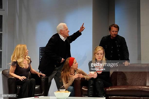 Andree Bernard as Eve Philip Voss as CharlesRuth Everett as Francis Sarah Chamberlain as Debra and Neil Stuke as Brian in Steven Berkoff's 6 Actors...