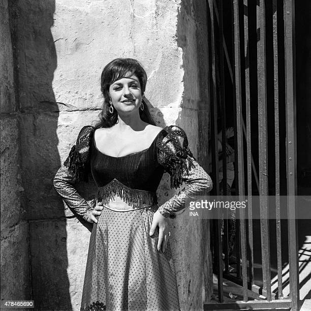 Andree Gabriel Incarnant Carmen during the television adaptation by Henri Spade of Georges Bizet's opera