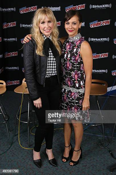 Andree Vermeulen and Rashida Jones visit the SiriusXM Studios during New York Comic-Con at The Jacob K. Javits Convention Center on October 9, 2015...