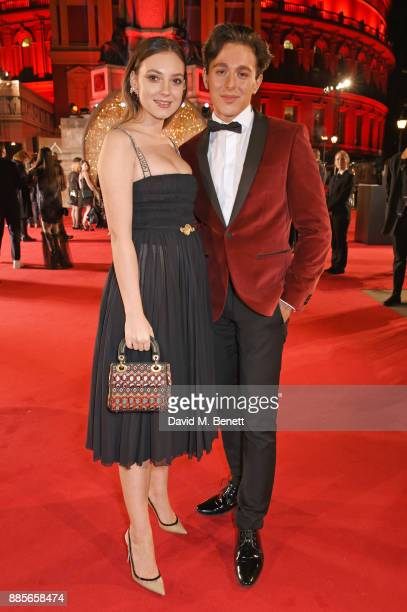 Andreea Cristea and Lucas Andrei attend The Fashion Awards 2017 in partnership with Swarovski at Royal Albert Hall on December 4 2017 in London...