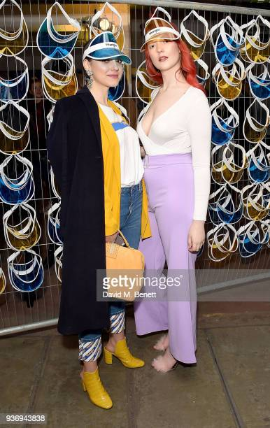 Andreea Cristea and Victoria Clay Wrangler Revival Blue Yellow on March 22 2018 in London England