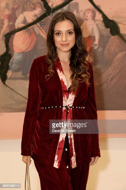 Andreea Cristea attends Pace Gallery Celebrates Julian Schnabel at 6 Burlington Gardens on May 16 2018 in London England