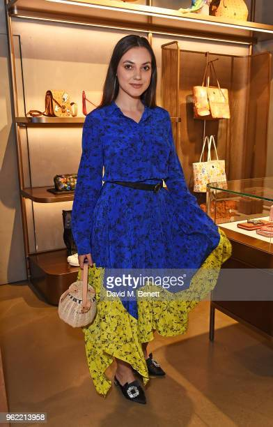 Andreea Cristea attends PUMA x MCM Collaboration London Launch Party in partnership with British GQ Style on May 24 2018 in London England