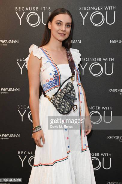 Andreea Cristea attends the Emporio Armani Fragrance 'Stronger With You' party at Roast on July 18 2018 in London England