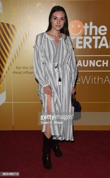 Andreea Cristea attends The Entertainer App launch party at The London Cabaret Club on May 1 2018 in London England