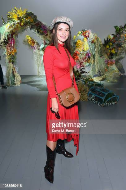 Andreea Cristea attends the Fyodor Golan front row during London Fashion Week September 2018 on September 15 2018 at BFC Show Space in London England