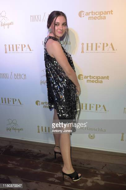 Andreea Cristea attends the HFPA Participant Media Honour Help Refugees' during the 72nd annual Cannes Film Festival on May 19 2019 in Cannes France