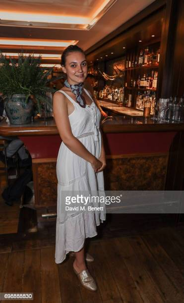 Andreea Cristea attends the launch of Dickie's Bar by Corrigan's Mayfair on June 20 2017 in London England