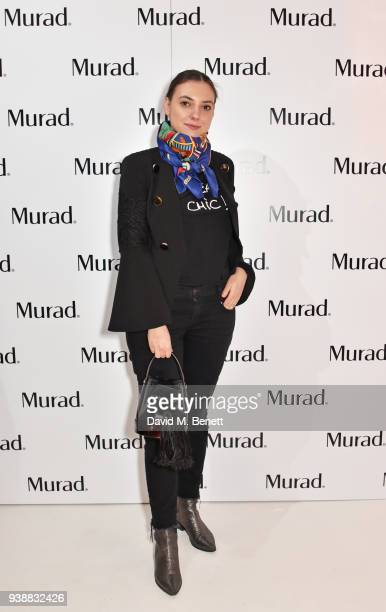 Andreea Cristea attends the launch of Dr Murad's Brightest Innovation at Icetank on March 27 2018 in London England