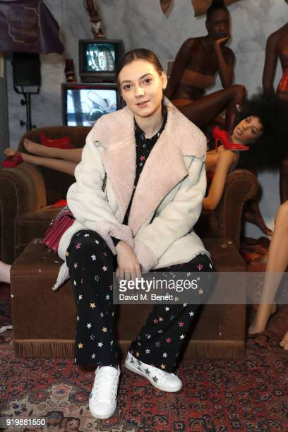 Andreea Cristea attends the Malone Souliers AW18 Presentation during London Fashion Week February 2018 at 12 Hay Hill on February 18 2018 in London...