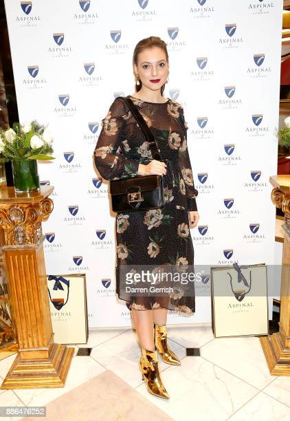Andreea Cristea attends the new flagship store launch of Aspinal on Regent's Street St James's on December 5 2017 in London England