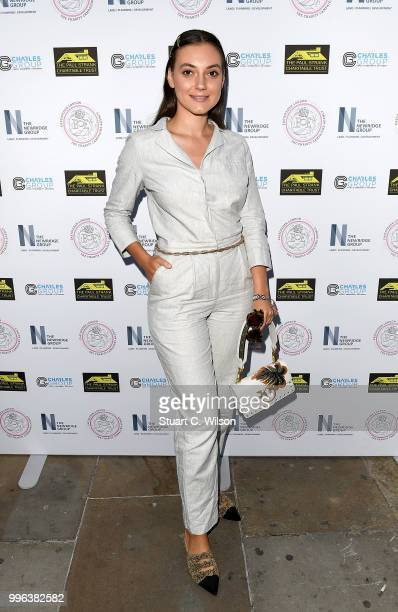 Andreea Cristea attends the Paul Strank Charitable Trust Summer party at Sanctum Soho Hotel on July 11 2018 in London England
