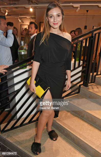 Andreea Cristea attends the Perfect Ten Exhibition in association with Tanqueray No TEN at Harvey Nichols on June 1 2017 in London England
