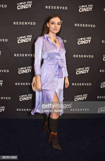Andreea Cristea attends the Reserved iLoveYouCindy campaign launch event at Kachette on March 16 2018 in London England