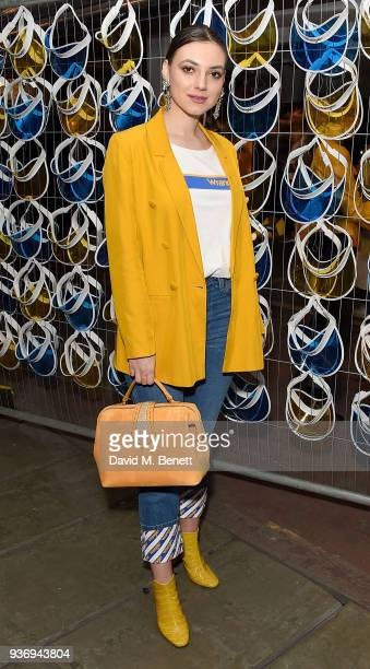 Andreea Cristea attends Wrangler Revival Blue Yellow on March 22 2018 in London England