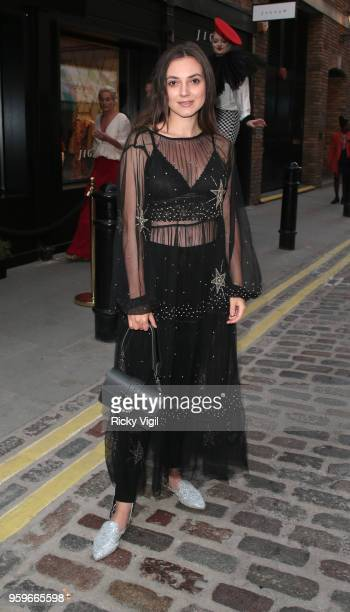 Andreea Cristea seen attending The Shop at Bluebird launch party in Covent Garden on May 17 2018 in London England
