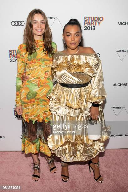 Andreea Diaconu and Paloma Elsesser attend the Whitney Museum Celebrates The 2018 Annual Gala And Studio Party at The Whitney Museum of American Art...