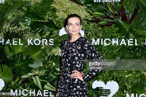 Andreea Diaconu attends The 11th Annual Golden Heart Awards benefiting God's Love We Deliver at Spring Studios on October 16 2017 in New York City