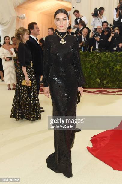 Andreea Diaconu attends the Heavenly Bodies Fashion The Catholic Imagination Costume Institute Gala at The Metropolitan Museum of Art on May 7 2018...