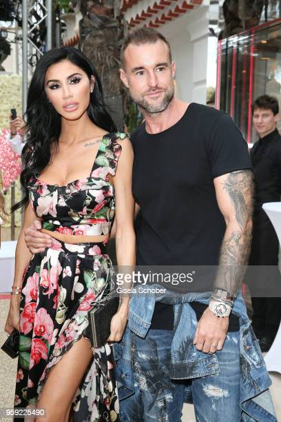 Andreea Sasu and fashion designer Philipp Plein ahead of his 'Dynasty' Women's Men's Resort 2019 Fashion Show during the 71st annual Cannes Film...