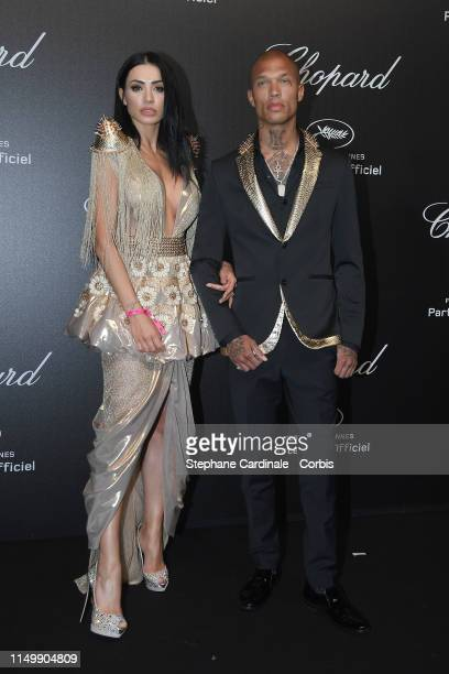 Andreea Sasu and Jeremy Meeks attend the Chopard Party during the 72nd annual Cannes Film Festival on May 17, 2019 in Cannes, France.