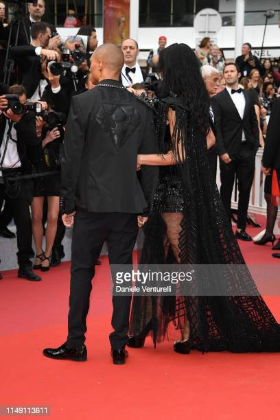Andreea Sasu and Jeremy Meeks attend the opening ceremony and screening of The Dead Don't Die during the 72nd annual Cannes Film Festival on May 14...
