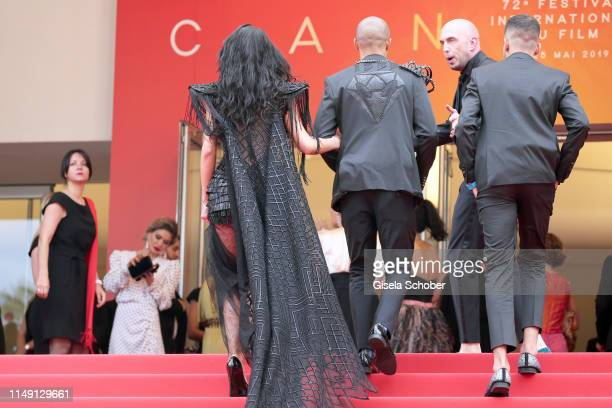 Andreea Sasu Jeremy Meeks and Adam Abaida Atarshi attend the opening ceremony and screening of The Dead Don't Die during the 72nd annual Cannes Film...