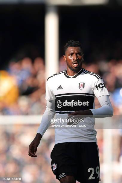 AndreFrank Zambo Anguissa of Fulham during the Premier League match between Everton FC and Fulham FC at Goodison Park on September 29 2018 in...
