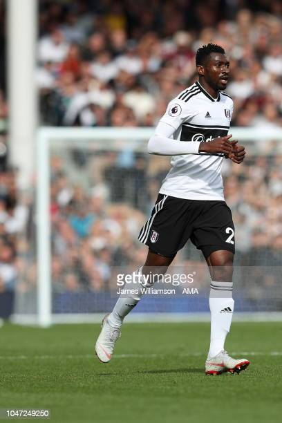 AndreFrank Zambo Anguissa of Fulham during the Premier League match between Fulham FC and Arsenal FC at Craven Cottage on October 7 2018 in London...