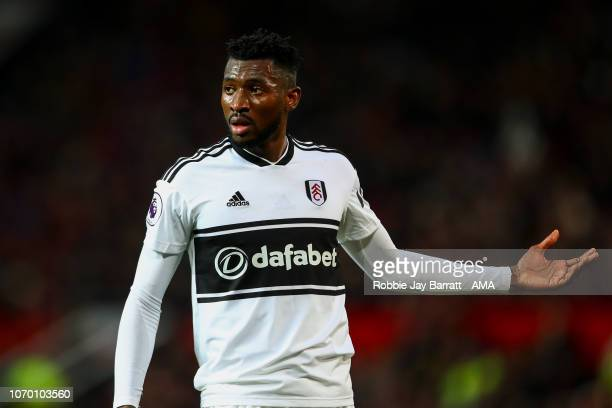 AndreFrank Zambo Anguissa of Fulham during the Premier League match between Manchester United and Fulham FC at Old Trafford on December 8 2018 in...