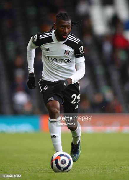 Andre-Frank Zambo Anguissa of Fulham during the Premier League match between Fulham and Newcastle United at Craven Cottage on May 23, 2021 in London,...