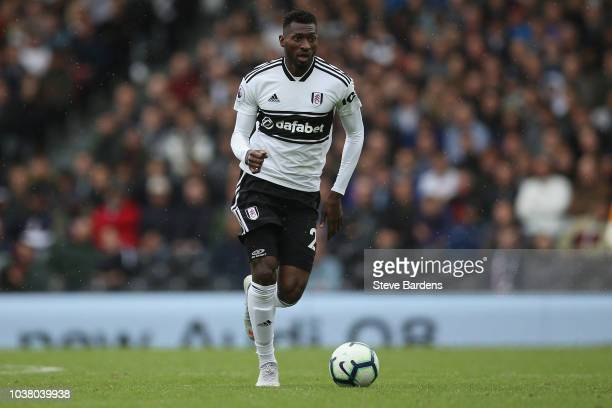 AndreFrank Zambo Anguissa of Fulham in action during the Premier League match between Fulham FC and Watford FC at Craven Cottage on September 22 2018...