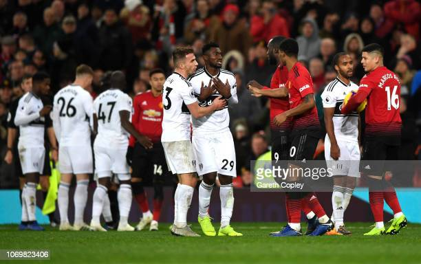 AndreFrank Zambo Anguissa of Fulham reacts during the Premier League match between Manchester United and Fulham FC at Old Trafford on December 8 2018...