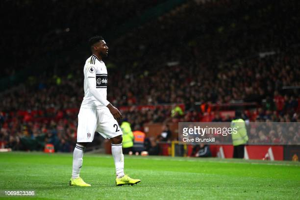AndreFrank Zambo Anguissa of Fulham walks off after being sent off during the Premier League match between Manchester United and Fulham FC at Old...