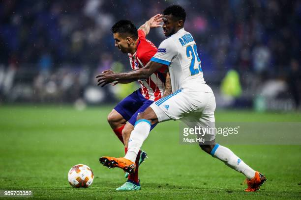 AndreFrank Zambo Anguissa of Marseille and Angel Correa of Atletico Madrid battle for the ball during the UEFA Europa League Final between Olympique...