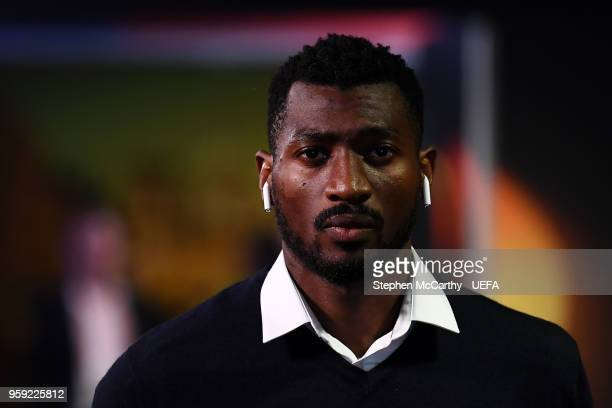 AndreFrank Zambo Anguissa of Marseille arrives at the stadium ahead of the UEFA Europa League Final between Olympique de Marseille and Club Atletico...