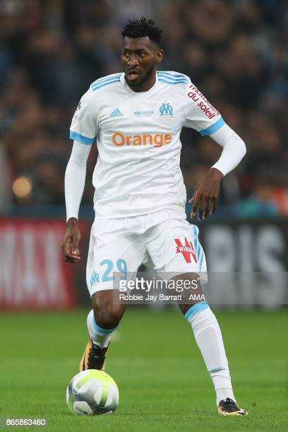 AndreFrank Zambo Anguissa of Marseille during the Ligue 1 match between Olympique Marseille and Paris Saint Germain at Stade Velodrome on October 22...