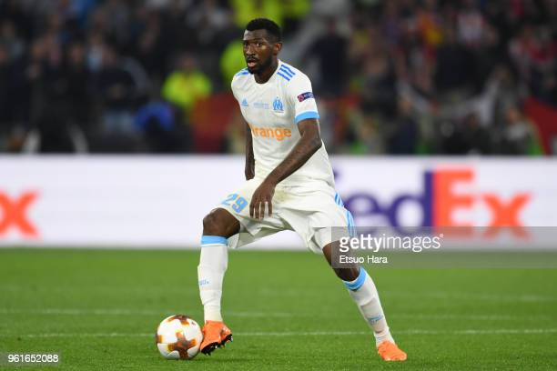 AndreFrank Zambo Anguissa of Olympique Marseille in action during the UEFA Europa League Final between Olympique de Marseille and Club Atletico de...