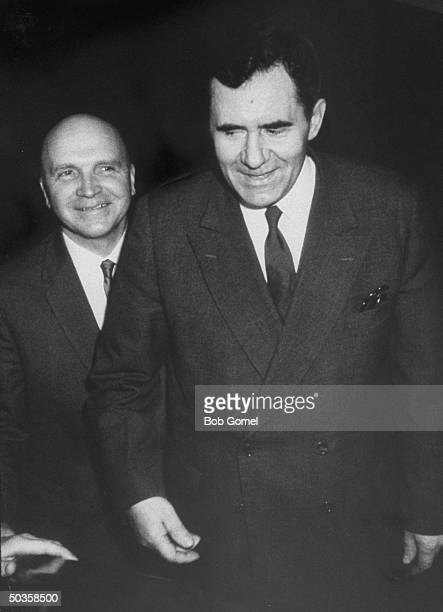 Andrei A Gromyko and Vladimir S Semyonov at the opening of the UN General Assembly