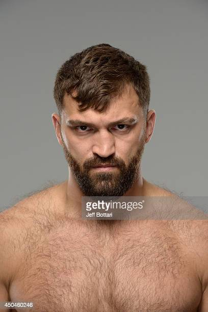 Andrei Arlovski poses for a portrait during a UFC photo session on June 11 2014 in Vancouver British Columbia Canada