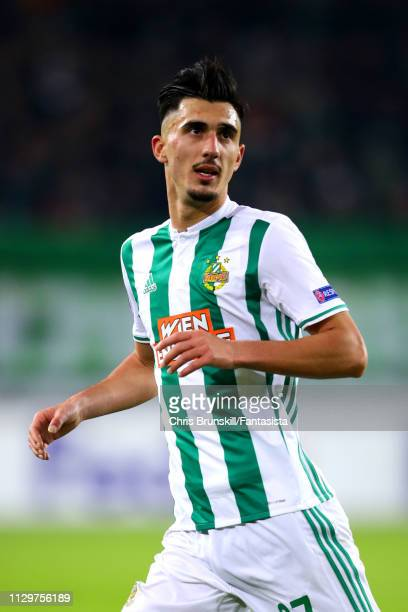Andrei Ivan of SK Rapid Wien in action during the UEFA Europa League Round of 32 First Leg match between SK Rapid Wien and FC Internazionale at...