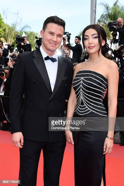 Andrei Ivanov and Kuralay Anarbekova attend the screening of 'Everybody Knows ' and the opening gala during the 71st annual Cannes Film Festival at...