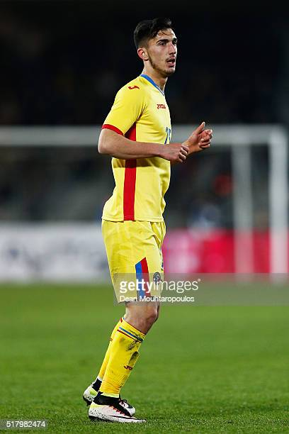 Andrei Ivanov in action during the International Friendly match between Romania and Spain held at the Cluj Arena on March 27 2016 in ClujNapoca...