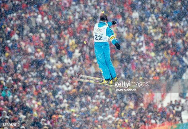 Andrei Ivanov of Russia competes in the qualification round of the Men's Moguls event of the Freestyle Skiing competition of the Winter Olympics on...