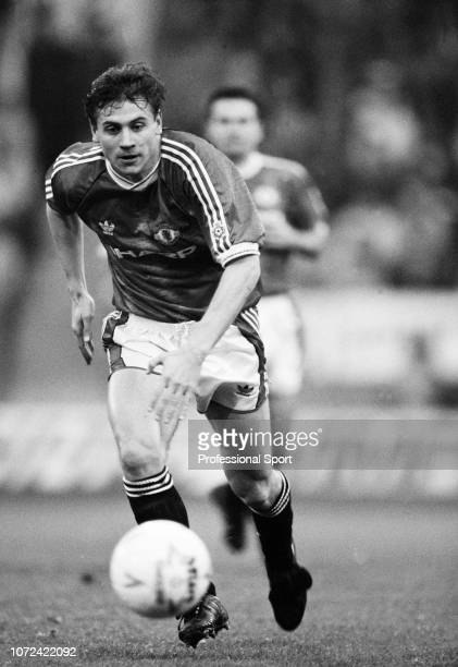 Andrei Kanchelskis of Manchester United in action circa 1992