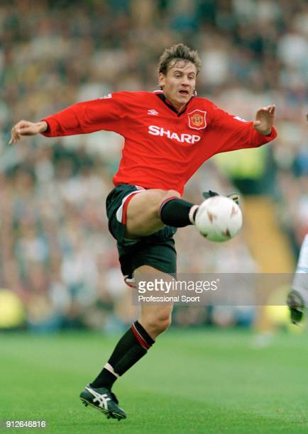 Andrei Kanchelskis of Manchester United in action during an FA Carling Premiership match between Leeds United and Manchester United at Elland Road on...