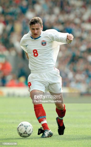 Andrei Kanchelskis of Russia in action during the UEFA Euro 1996 Group C match between Italy and Russia at Anfield on June 11 1996 in Liverpool...