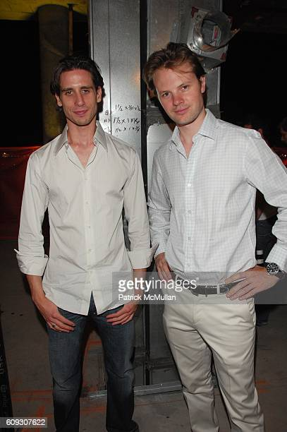 Andrei Karkar and Carl Andreas van der Goltz attend Q MAGAZINE RIVERHOUSE 1 ROCKEFELLER PARK and NEW YORK ACADEMY OF ART hosts summer rooftop...