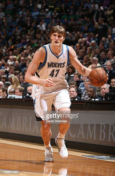 Andrei Kirilenko of the Minnesota Timberwolves drives the ball up court during the game between the Minnesota Timberwolves and the Phoenix Suns...